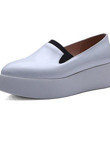 ZQ gyht Zapatos de mujer - Tacón Plano - Puntiagudos - Mocasines - Exterior / Oficina y Trabajo / Casual / Laboral - Materiales Personalizados - , silver-us7.5 / eu38 / uk5.5 / cn38 , silver-us7.5 / e white-us6.5-7 / eu37 / uk4.5-5 / cn37