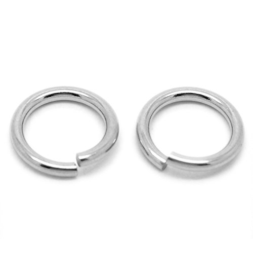 VALYRIA 100pcs Silver Tone Stainless Steel 2mm Open Jump Rings Connectors Jewelry Findings (15mm(5/8))