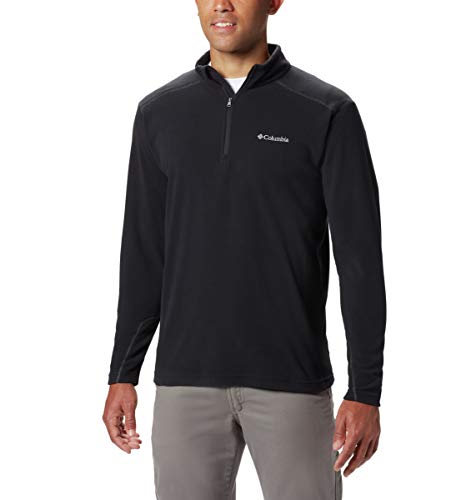 Columbia Men's Klamath Range Ii Half Zip, black, Large (Mens Sweater Quarter Zip)