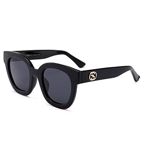 Fashion Hit Color Transparent Stipe Frame Polarized Sunglasses Brand Designer Popular Women Cateye Sun Glass,black