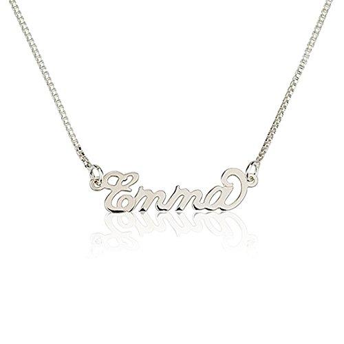 925 Silber Namenskette- Personalisiert mit Ihrem eigenen Namen (40 CM)