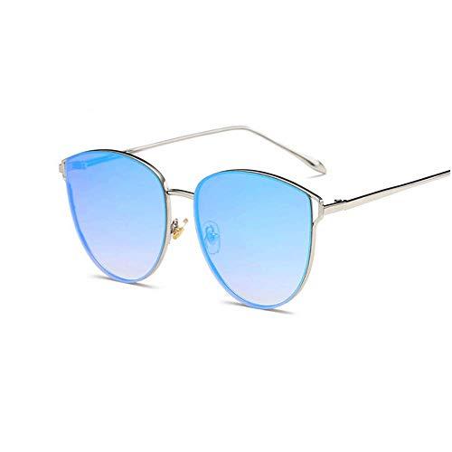 Soleil Blue Dames TLMY De Silver Lunettes Européennes de Américaines Lunettes Mode De Blue Silver Couleur Soleil wgaqxEaR