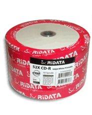 Ridata 52X 80-Min White Inkjet Hub CD-R's 600-Pak Shrinkwrap (Pak Shrink Wrap)