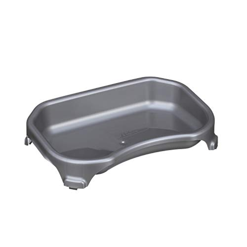 NEATER PET BRANDS Little Big Bowl for Cats - Extra High Capacity Dog/Cat Water Bowls (6 Cups/48 oz, Gunmetal Grey)