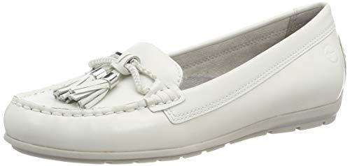 117 Donna Tamaris 22 Leather Bianco Mocassini 1 white 117 24602 1 ZvqWr6UvY