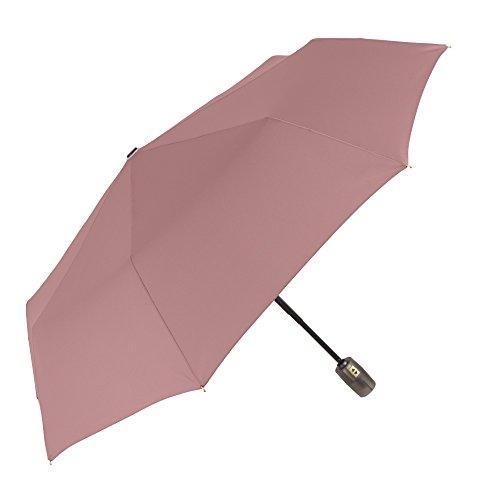 Paraguas Plegable Mujer - Mini Paraguas con Detalles Dorados - Apertura y Cierre Automatico - Resistente Compacto y Antiviento - 96 cm de diámetro ...