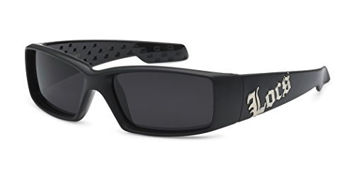 LOCS Original Gangster Shades Men's Hardcore Rectangle Bad Boy Sunglasses - Matte - Sunglasses Locs Australia