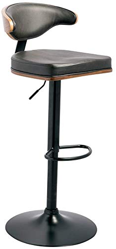 (Ashley Furniture Signature Design - Bellatier Tall Upholstered Swivel Barstool - Contemporary Style - Brown/Black)