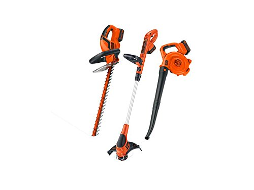 BLACK+DECKER LC3K220 20-Volt Lithium Ion Cordless Electric Lawncare Center (Cordless Yard Tools)