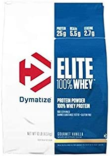 Dymatize Elite Whey Protein Isolate, Strawberry Blast, 10 Pound