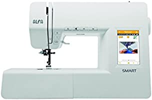 Alfa Smart Machine à coudre électronique 70 points coloris blanc