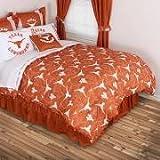 NCAA Texas Longhorns All Over Comforter, Queen, Dark Orange
