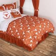 Sports Coverage NCAA Texas Longhorns All Over Comforter, Queen, Dark Orange