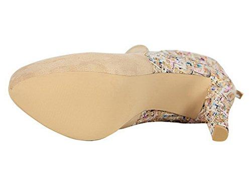 Schuhe Shoet High CHENSH Ritter Wasserdichte Wildleder Schwarz Stiefel Stiefel Plattform Frauen Heels qaaUw5fC