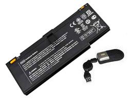 amsahr® Replacement Battery for HP Envy 14, 592910-351, 593548-001, HSTNN-OB1K, LF246AA, 14 Beats Edition, 14-1000, 14-2000, 14-1100, 14T-1100 CTOM (8 Cell, 4400 mAh) - Includes Mini Optical Mouse