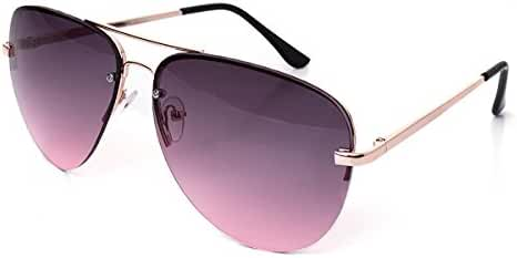 SojoS Unisex Fashion Multicolor Gradient Flat Lens Teardrop Glass Aviator Sunglasses