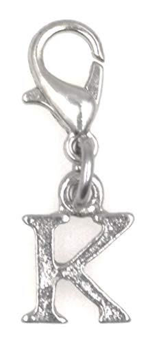 It's All About You Jewelry Letter Clip on Charm Perfect for Necklaces and Bracelets Initial Letter K 94B
