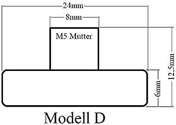 Model A Laufrolle in 9 Varianten Rollwagen Schiebet/ürbeschlag Schiebet/ür Rolle Duscht/üre Rollen Rad