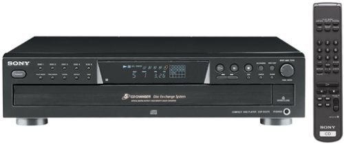 Sony CDP-CE375 5-Disc Carousel-Style CD Changer (Discontinued by Manufacturer) (Renewed) by Sony
