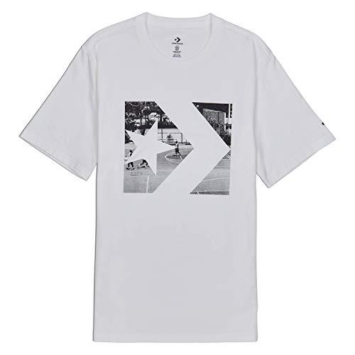 - Converse Men's Photo Fill Star Chevron Tee White 10017437-a01-102 (Size XL)