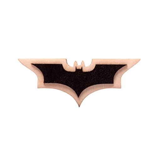 Waf-Waf Batman Logo Black Bat Lapel Pin DC Comics Wood Style Brooch for Suit, Shirt, Cap or (Original Batman Suit)