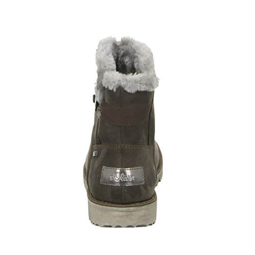 s.OliverDamenstiefelette 5-76412 - botas clásicas Mujer Gris - gris