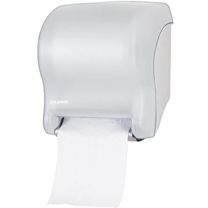 San Jamar t8000wh tear-n-dry esencia manos libres toalla rollo dispensador – blanco