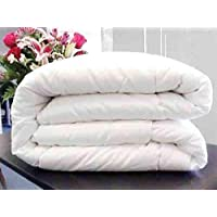 Jvin Fab Classic 100% Cotton Plain 300TC Duvet / Quilt / AC Comforter - All Season 5 Star Hotel Microfiber Quilt - White Double Bed Size Hot Razai for Sleeping (90 x 100 Inches)