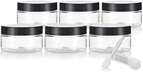 Amazon.com: Tarro de plástico PET transparente (sin ...