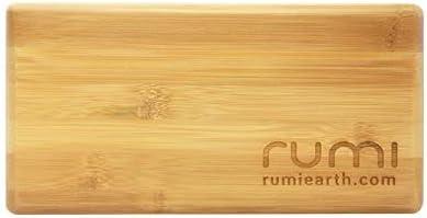 """Rumi Yoga Block Bamboo - Mini - 9""""x 4.5""""x 3"""""""