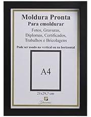 Porta Documento Decorativo, Diploma, Certificado, Foto (21x30) Preto
