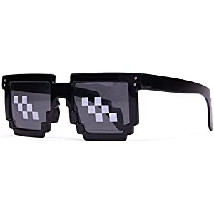Deal With It Glasses - Thug Life Pixelated Sunglasses 8-Bit Style MLG Shades