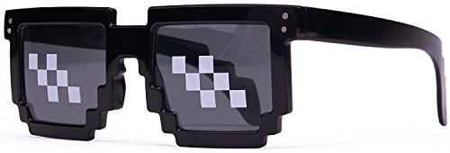 Deal With It Glasses - Thug Life Pixelated Sunglasses 8-Bit Style MLG - 8 Bit Sunglasses
