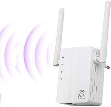 SOOTEWAY Repetidor WiFi, Amplificador WiFi de 2,4 GHz / 300 Mbps, Amplificador de señal WiFi con Amplia Cobertura, Extensor WiFi con Botón WPS, Modo 3 ...