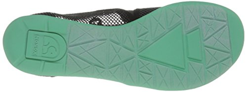 Nosox Mujeres Meshpadrille Flat Charcoal / Mint