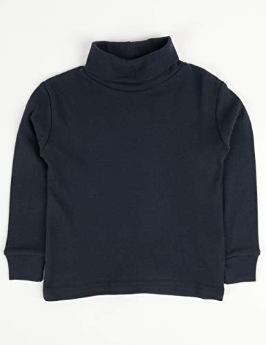 Turtleneck Riding Shirt - Leveret Solid Turtleneck 100% Cotton (8 Years, Navy)