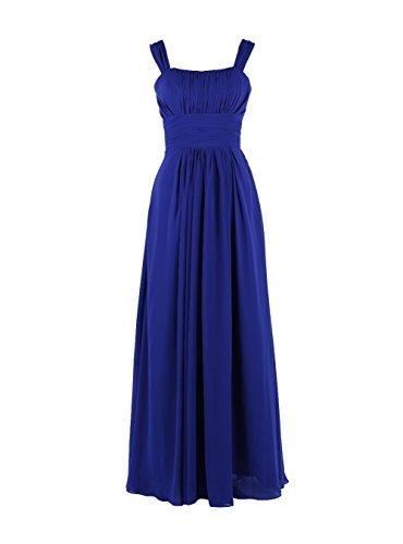 YiYaDawn - Vestido - trapecio - para mujer azul real
