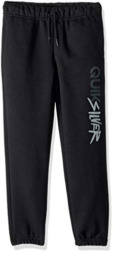 (Quiksilver Boys' Little' Trackpant Screen Youth Sweatpant Bottoms, Black, 6)