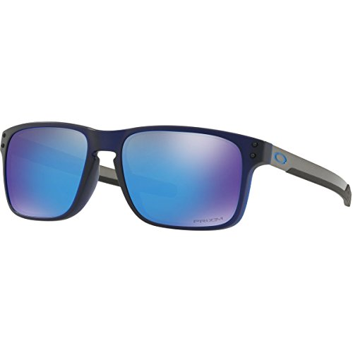 Oakley Men's Holbrook Mix Non-Polarized Iridium Rectangular Sunglasses, Matte Translucent Blue, 57.0 - Holbrook Oakley Blue Iridium