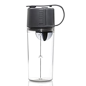Umoro V3: The 3 in 1 BPA-Free Protein Shaker + Water Bottle and Convenient 50cc Top-End Storage Compartment for Protein Powder + Supplements with 100% Leak Proof Design - Gunmetal Grey