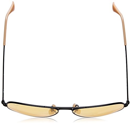 Ray-Ban lunettes de soleil aviateur classique en photochromique jaune noir mat RB3025 90664A 55 Black