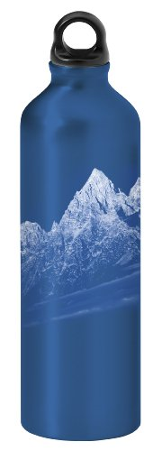 Gaiam 750ml Aluminum Water Bottle (Rocky Mountains, Poly Loop Cap)