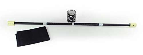Trick Concepts - Fire Weighted Contact Staff, 5ft with Kevlar Wick, Quart Dip Can and Fire Blanket (Pyro Safety Blanket)