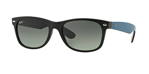 Ray Ban RB2132 NEW WAYFARER 618371 55M Matte Black/Grey Gradient Dark Grey Sunglasses For Men For ()