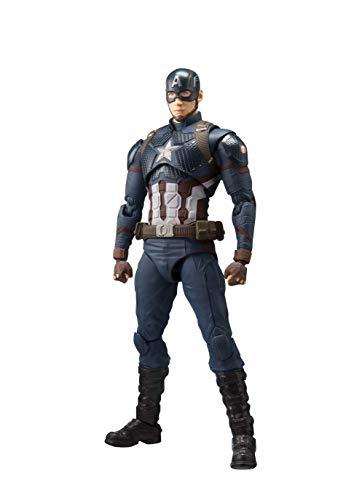 S.H.피규어아츠 어벤져스 캡틴・미국(어벤져스/엔드 게임) 약150mm PVC&ABS제 도장필 가동 피규어