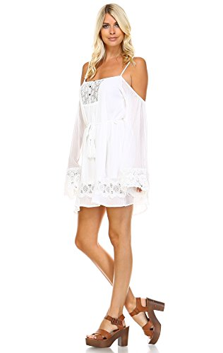 Buy bell sleeve crochet dress - 4
