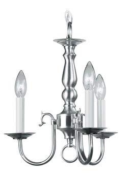 Livex Lighting 5013-91 Chandelier with No Shades, Brushed Nickel