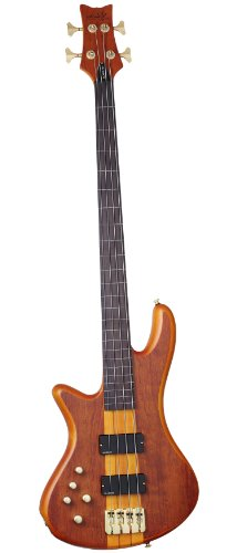 Schecter Stiletto Studio-4 Fretless Electric Bass Honey Satin (HSN)Left Handed