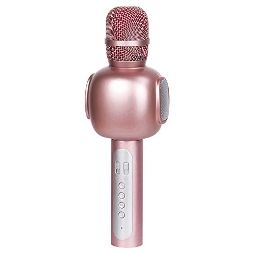 Hancoc Bluetooth Draadloze Handset Microfoon K Song Treasure Draadloze Microfoon Zingen Muziek 25 * 6cm (Color : Pink)