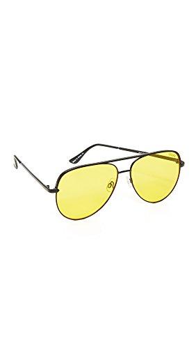 Quay Women's x Desi Perkins Sahara Aviator Sunglasses, Yellow/Black, One - Sunglasses Quay Desi X